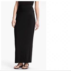 Eileen Fisher Fold Over Maxi Skirt Jersey XS
